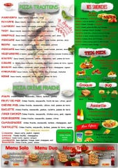 Menu O'Délice - Pizzas, sandwiches, tex mex,...