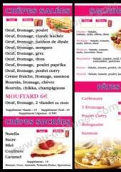 Menu Crêperie Le Petit Mouffetard - Les crêpes, les salades et pâtes