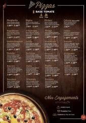 Menu Woodiz - Pizzas tomate