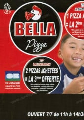 Menu Bella Pizza - Carte et menu Bella Pizza Les Lilas