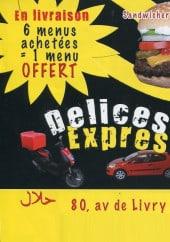 Menu Délices Express - Carte et menu delices express Sevran