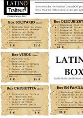 Menu Latino traiteur - Les latinos boxs