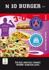 Menu N 10 burger - Carte et menu N 10 burger Aubervilliers