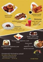 Menu Saveur Ethnique - Entrées, boissons, desserts,....
