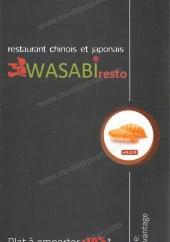 Menu Wasabi - Carte et menu Wasabi Les Pavillons Sous Bois