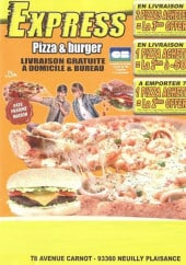Menu Express Pizz Burger - carte et menu Express Neuilly Plaisance