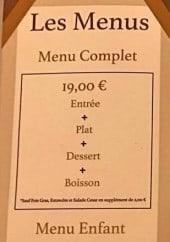 Menu La Cantine - Les menus