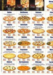 Menu Pizza time - Les pizzas