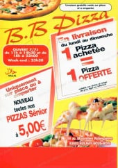 Menu B.B Pizza - menus