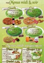 Menu Caprita Pizza - Menus midi et soir