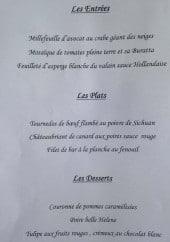 Menu Côté Sud - Un extrait de la carte