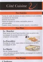 Menu Encas 2 Traiteur - Entrées, plats et pasta