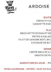 Menu Gourmet bar - Exemple de menu de la semaine