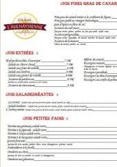 Menu L'Aulnaysienne - Entrées, salades géantes,...