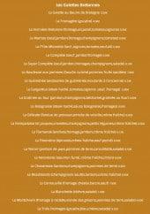 Menu La Boucane - Les galettes