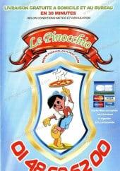 Menu Le Pinocchio - Carte et menu de Pinocchio à Aulnay Sous Bois