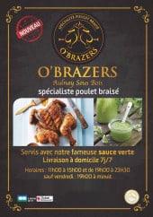 Menu O'brazers - Carte et menu O'brazers Aulnay Sous Bois