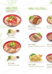 Menu Ô Food Asia - Les phô et nouilles