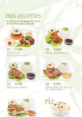 Menu Ô Food Asia - Les assiettes