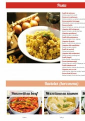 Menu Pasta & Dolce - Pasta et ravioles