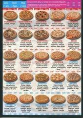 Menu Pizza Line - Pizzas et pizzas crème fraîche