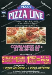 Menu Pizza Line -