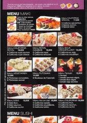 Menu Royal Tokyo - Menu maki et sushis