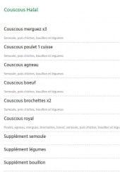 Menu Casa Carina - Couscous