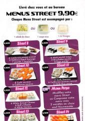 Menu Sushi Street - Les menus