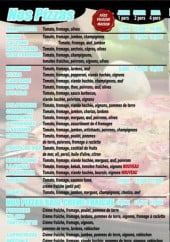 Menu Djam's Food - les pizzas