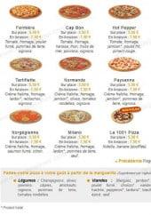 Menu 1001 Pizza - Les Pizzas suite