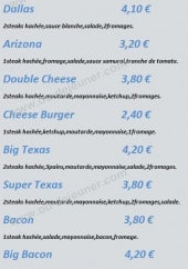 Menu Europizza Texas Burger - Burger