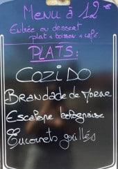 Menu Le Tonneau - Un exemple de menu du jour