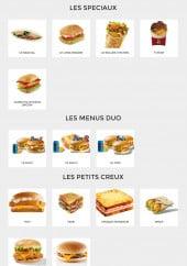 Menu Le New Burger - Les sandwiches spéciaux, menus duo et les petits creux