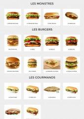 Menu Le New Burger - Les burgers monstres, burgers et sandwiches gourmands