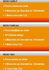 Menu Pizza Di Mario - Les menus soir: menu family, menu trio ...