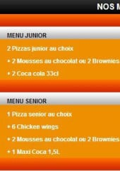 Menu Pizza Di Mario - Les menus soir: menu junior, menu senior