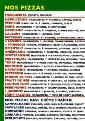 Menu Allo Pizza Rapido - pizzas