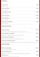 Menu Dragon d'Orient Japonais - Top vente et dragon wok box