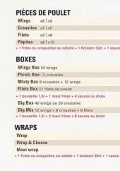 Menu Hector Chicken - Les menus