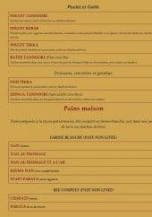 Menu Le Balal - Les entrées suite et pains maisons