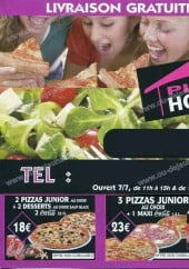 Menu Pizza House - Les menus