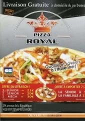 Menu Pizza Royal - Carte et menu Pizza Royal Fontenay sous Bois