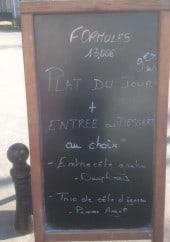 Menu Brasserie de l'Hotel de ville - Exemple de menu
