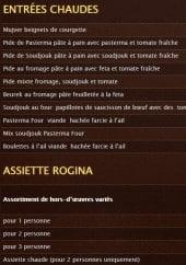 Menu La Rogina - Les entrées chaudes et l' assiette Rogina