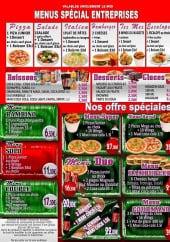 Menu Pizza Plus - Les menus, boissons, desserts,glaces,...