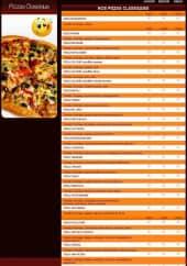 Menu Pronto Pizza - Les Pizzas Classiques
