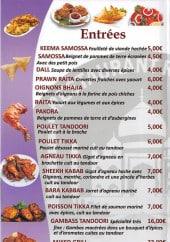 Menu Rajpoot - Entrées et salades