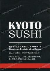 Menu Kyoto Sushi - Carte et menu de Kyoto Sushi à Saint Mande
