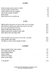 Menu O'papillon - Les entrées, plats et desserts